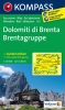 Kompass: WK 073 Dolomiti di Brenta - Brentagruppe 1:25 000
