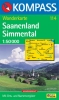 Kompass: WK 114 Saanenland-Simmental-Gstaad 1:50 000