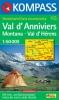 Kompass: WK 115 Val d'Anniviers-Montana-Val d'Hérens 1:50 000