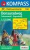 Kompass: WK 150 Donauradweg Schwarzwald - Regensburg 1:125 000