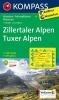 Kompass: WK 37 Zillertaler Alpen-Tuxer Alpen 1:50 000