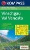 Kompass: WK 52 Vinschgau/Val Venosta 1:50 000