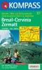 Kompass: WK 87 Breuil-Cervinia-Zermatt 1:50 000