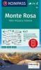 Kompass: WK 88 Monte Rosa 1:50 000