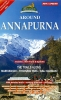 Nepa: Around Annapurna mapa 1:125 000
