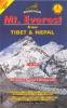 Nepa: Mt Everest z Tibetu a Nepálu 1:40 000