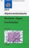 OEAV: 31/1 Stubaier Alpen, Hochstubai - zimní 1:25 000