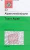 OEAV: 33 Tuxer Alpen - letní 1:50 000
