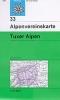 OEAV: 33 Tuxer Alpen - zimní 1:50 000