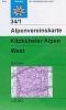 OEAV: 34/1 Kitzbüheler Alpen, West - zimní 1:50 000